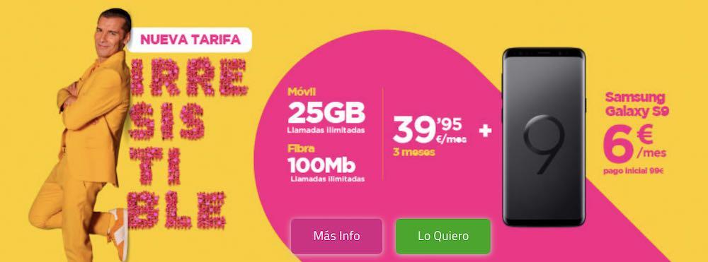 Jazztel estrena nueva tarifa Irresistible y simplifica su oferta de fibra y móvil