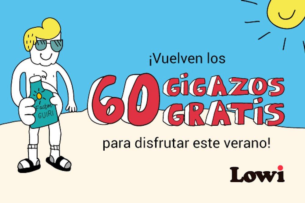 Lowi 60 GB gratis verano 2019