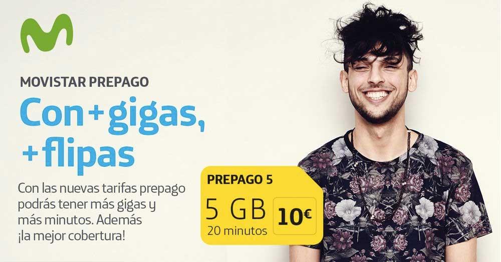 Movistar tiene nuevas tarifas de prepago: desde 5 a 15 gigas