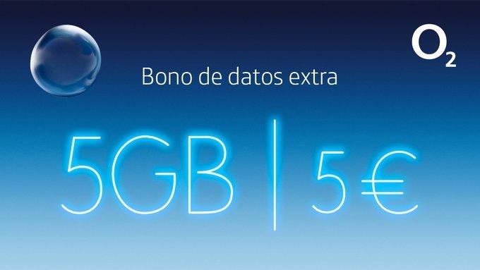 O2 bono de datos extra de 5 gigas