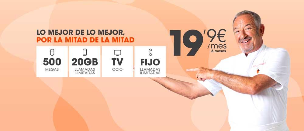 Euskaltel oferta fibra móvil TV, letra pequeña y detalles, agosto 2019
