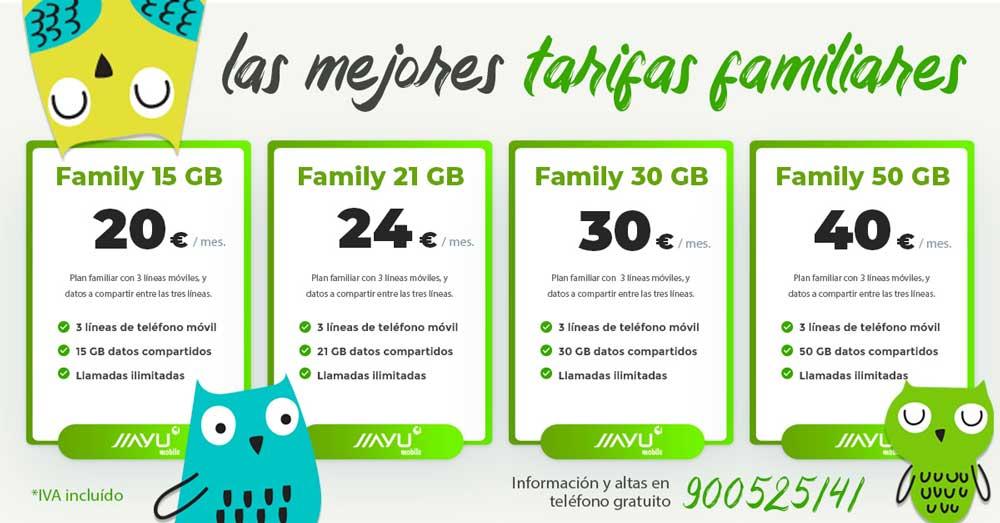 Jiayu estrena tarifas familiares: tres líneas compartiendo gigas desde 20 euros