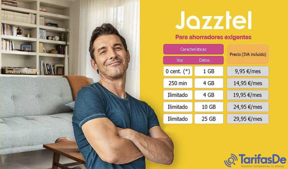 Jazztel nuevas tarifas móviles, octubre 2019