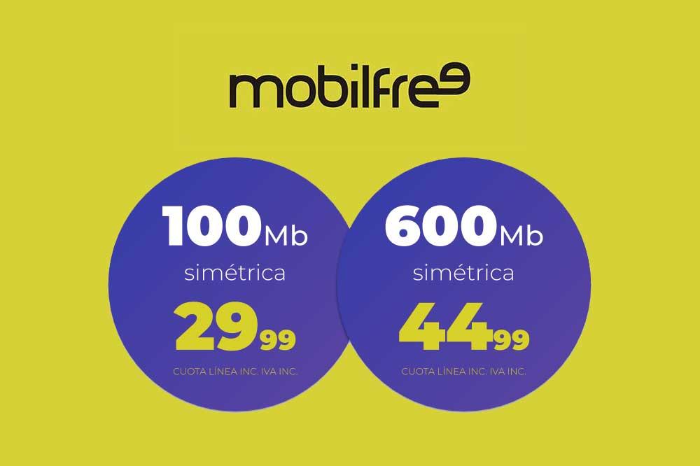 Mobilfree tarifas de fibra, octubre 2019