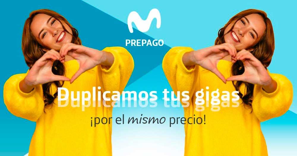 Movistar prepago doble gigas gratis hasta enero 2020