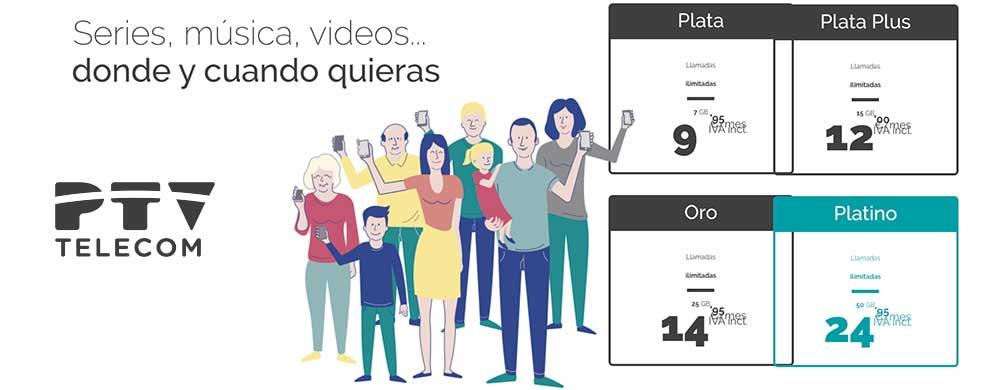 PTV tarifas móviles, octubre 2019