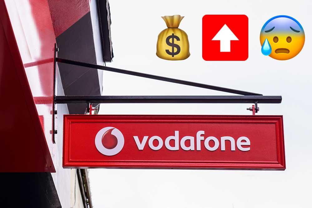 Vodafone subida precios tarifas descatalogas, diciembre 2019