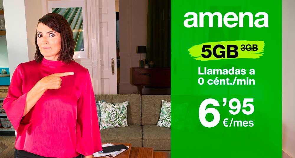Los gigas gratis vuelve a Amena: hasta 50 gigas por 24,95 euros