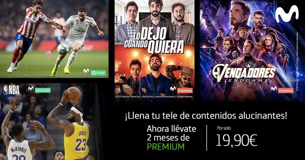 Movistar+ Premium por 19,90 euros para dos meses para los clientes de Movistar