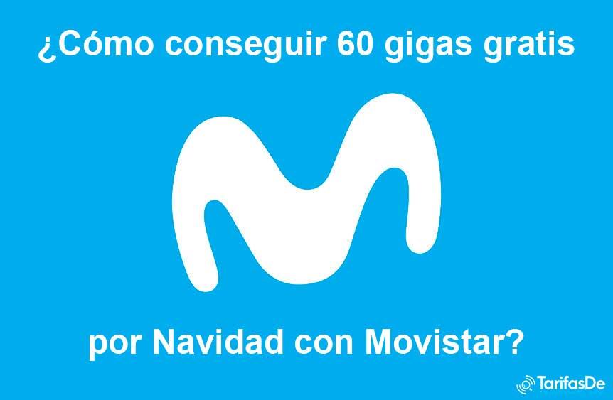 Cómo conseguir 60 gigas gratis Movistar, diciembre 2019