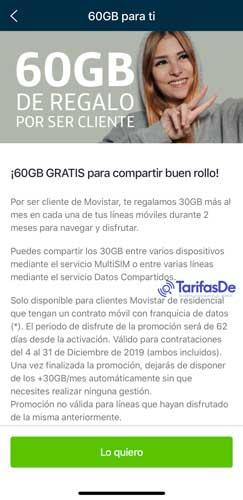Cómo conseguir 60 gigas gratis Movistar, paso 3