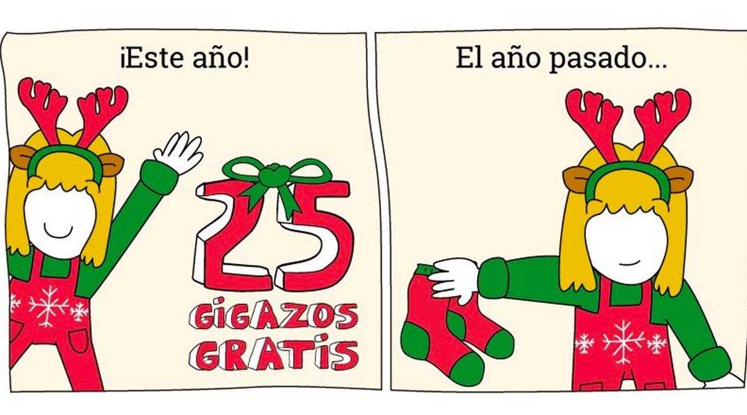 Lowi regala 25 gigas en todas sus tarifas como promoción de navidad