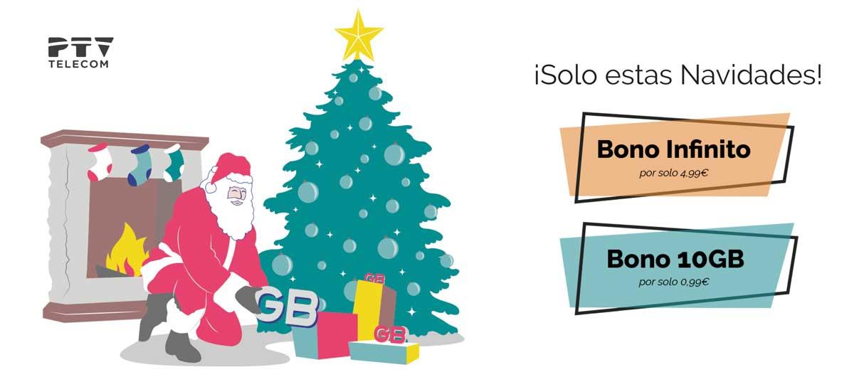 PTV telecom datos ilimitados, navidad 2019
