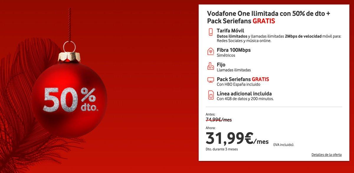 Vodafone One Ilimitada línea móvil gratis, diciembre 2019