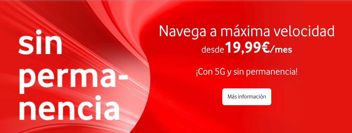 Vodafone promoción Navidad 2019 datos ilimitados gratis