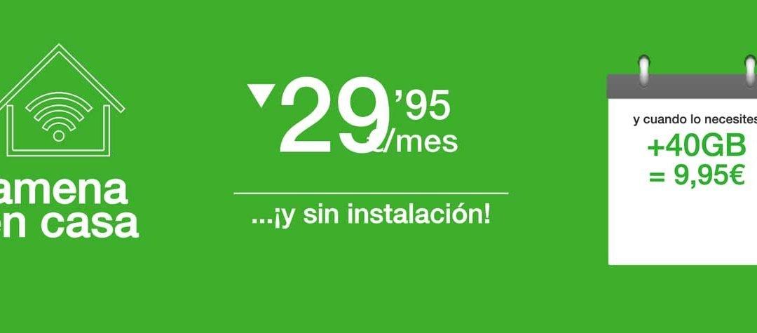 Amena en casa mejora su bono de datos extra: 40 gigas más por 9,95 euros