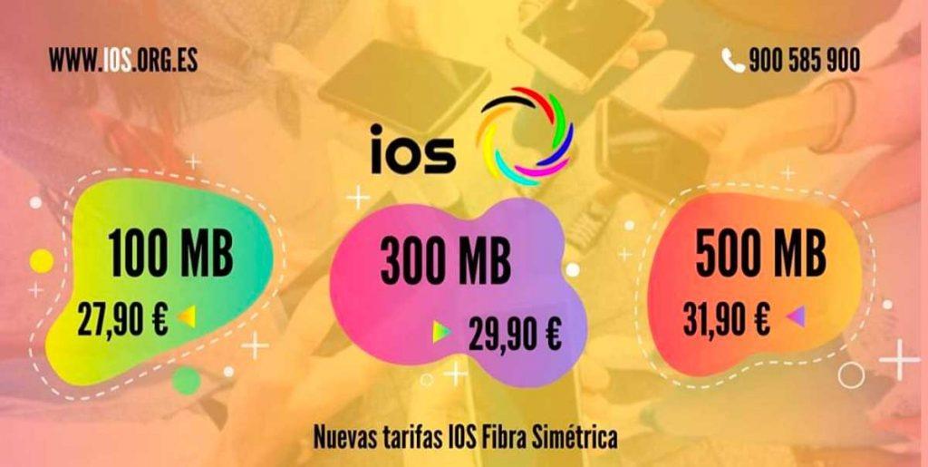 IOS rebaja los precios de tarifas de fibra y móvil, enero 2020