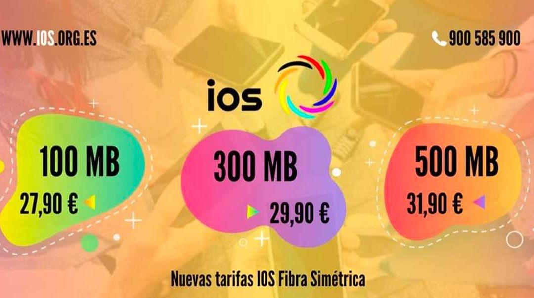 IOS rebaja los precios de sus tarifas de fibra y de los packs de fibra y móvil