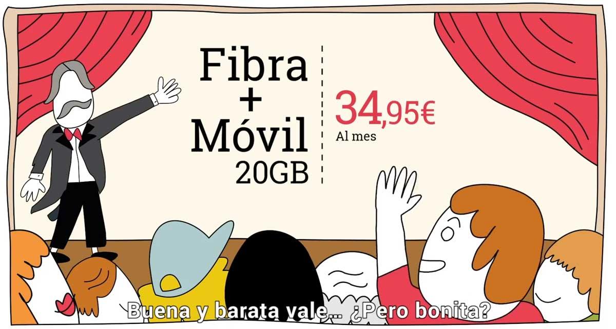 Lowi oferta tarifa fibra y móvil, enero 2020