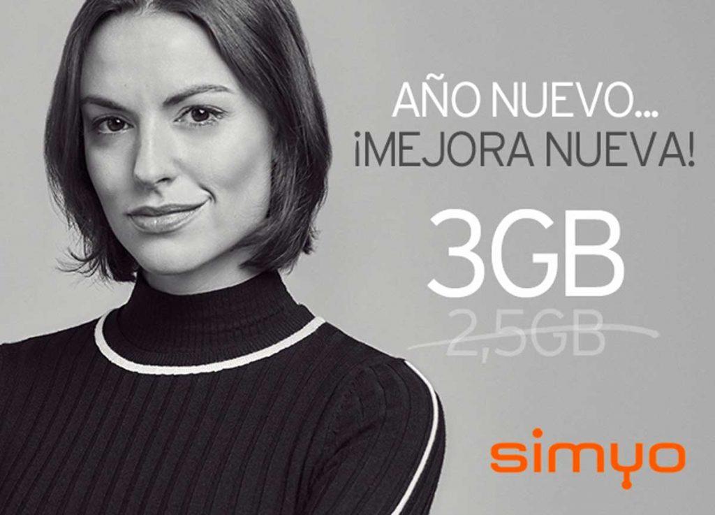 Simyo mejora tarifa 5 euros, enero 2020