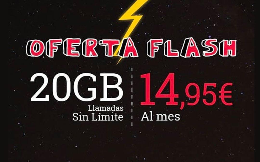 Lowi oferta flash tarifa móvil 20 gigas, febrero 2020