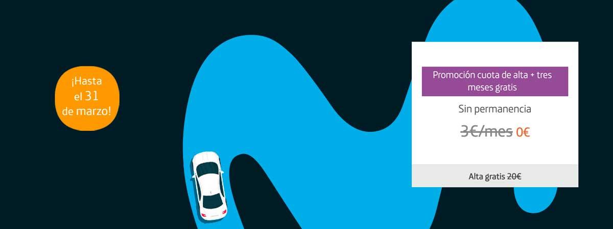 Movistar Car tres meses gratis promoción febrero marzo 2020