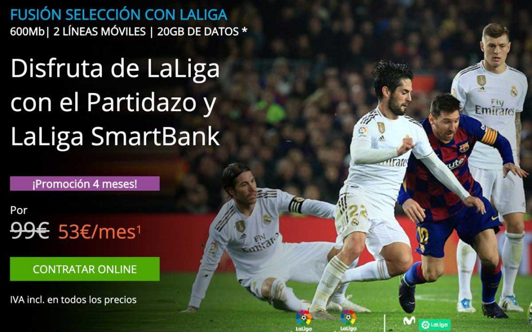 Movistar va a por los futboleros: Liga o Champions con otros deportes por 53 euros al mes