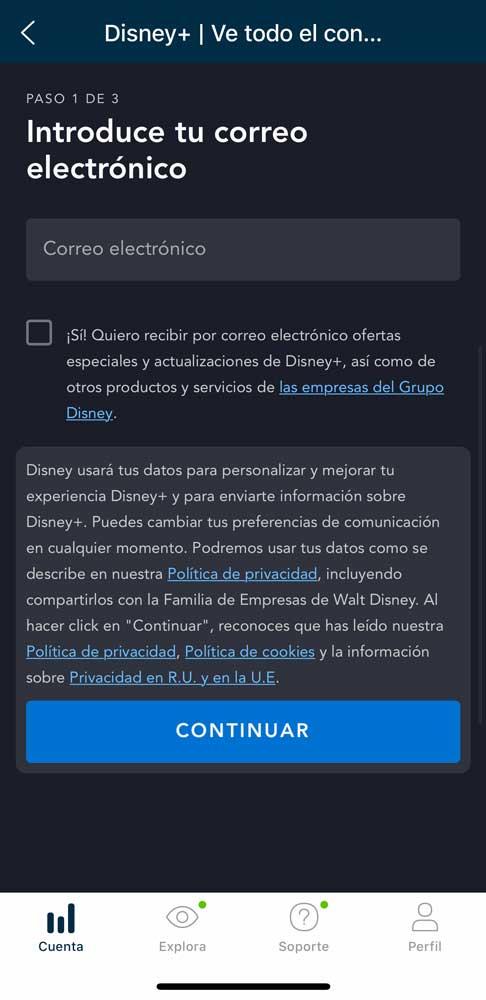 Cómo activar Disney plus con Movistar, paso 4