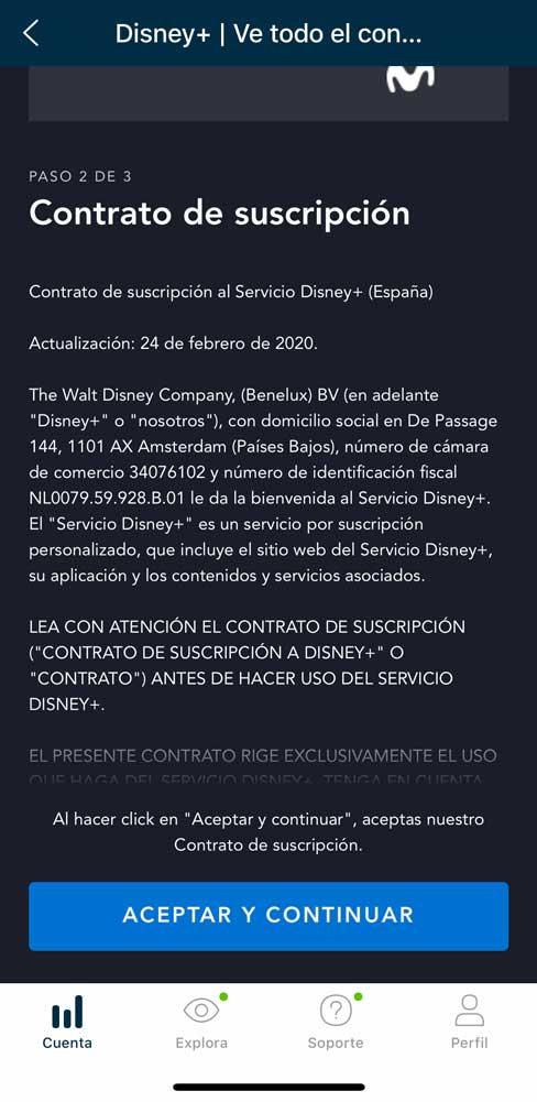 Cómo activar Disney plus con Movistar, paso 5
