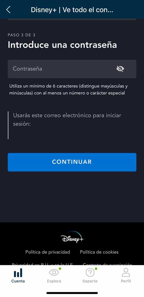 Cómo activar Disney plus con Movistar, paso 6