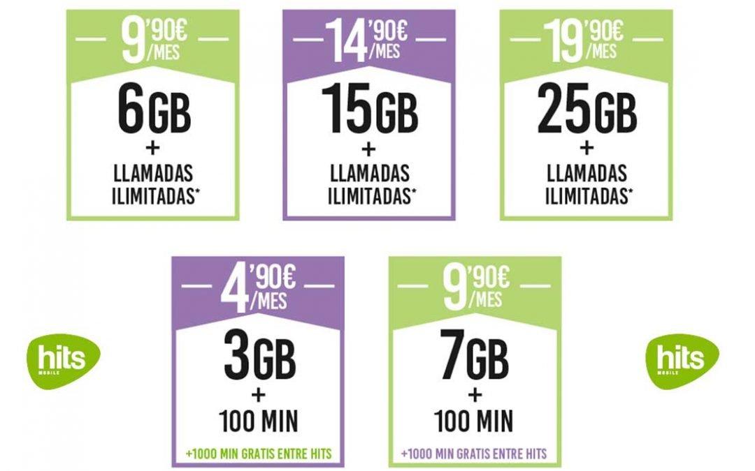 Hits Mobile pone al día sus tarifas móviles, a la espera de la fibra