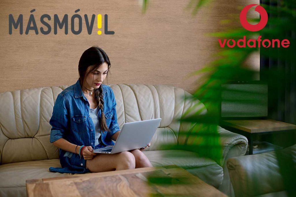 MásMóvil y Vodafone fibra sin permanencia, marzo 2020