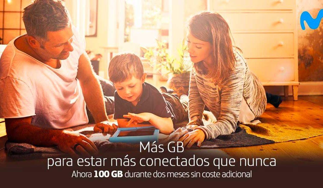 Movistar sube la apuesta: de 60 a 100 GB gratis durante dos meses