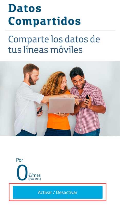 Cómo activar los datos ilimitados de Movistar, paso 2