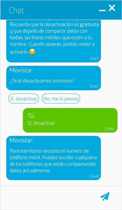 Cómo activar los datos ilimitados de Movistar, paso 5