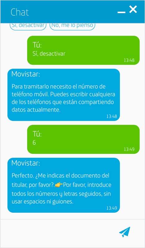 Cómo activar los datos ilimitados de Movistar, paso 6