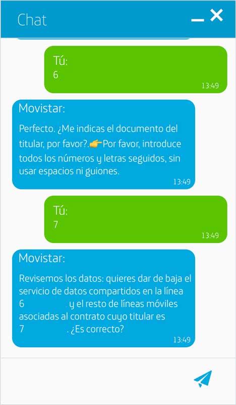 Cómo activar los datos ilimitados de Movistar, paso 7