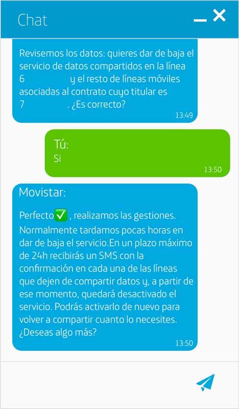 Cómo activar los datos ilimitados de Movistar, paso 8
