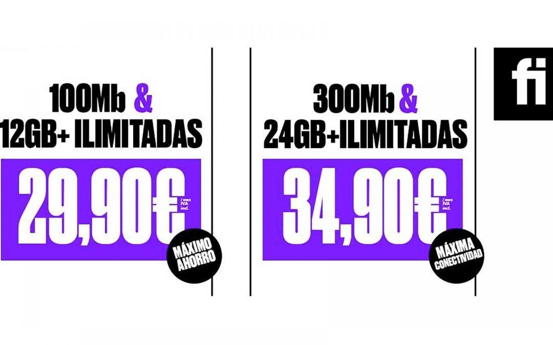 Finetwork estrena tarifas de fibra y móvil por menos de 40 euros