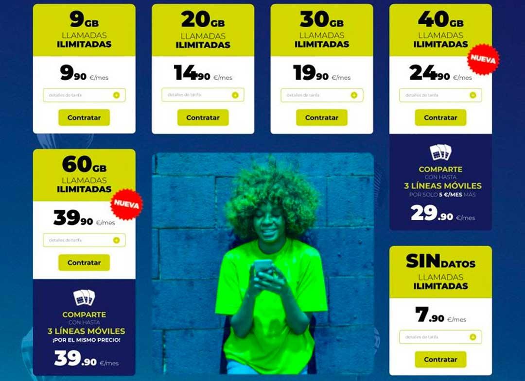 Mobilfree nuevas tarifas móviles, junio 2020