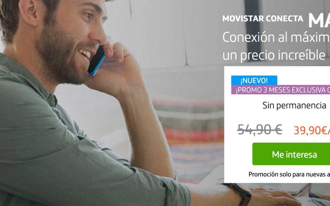 Movistar Conecta Max: así es el nuevo pack de fibra y móvil barato de Movistar
