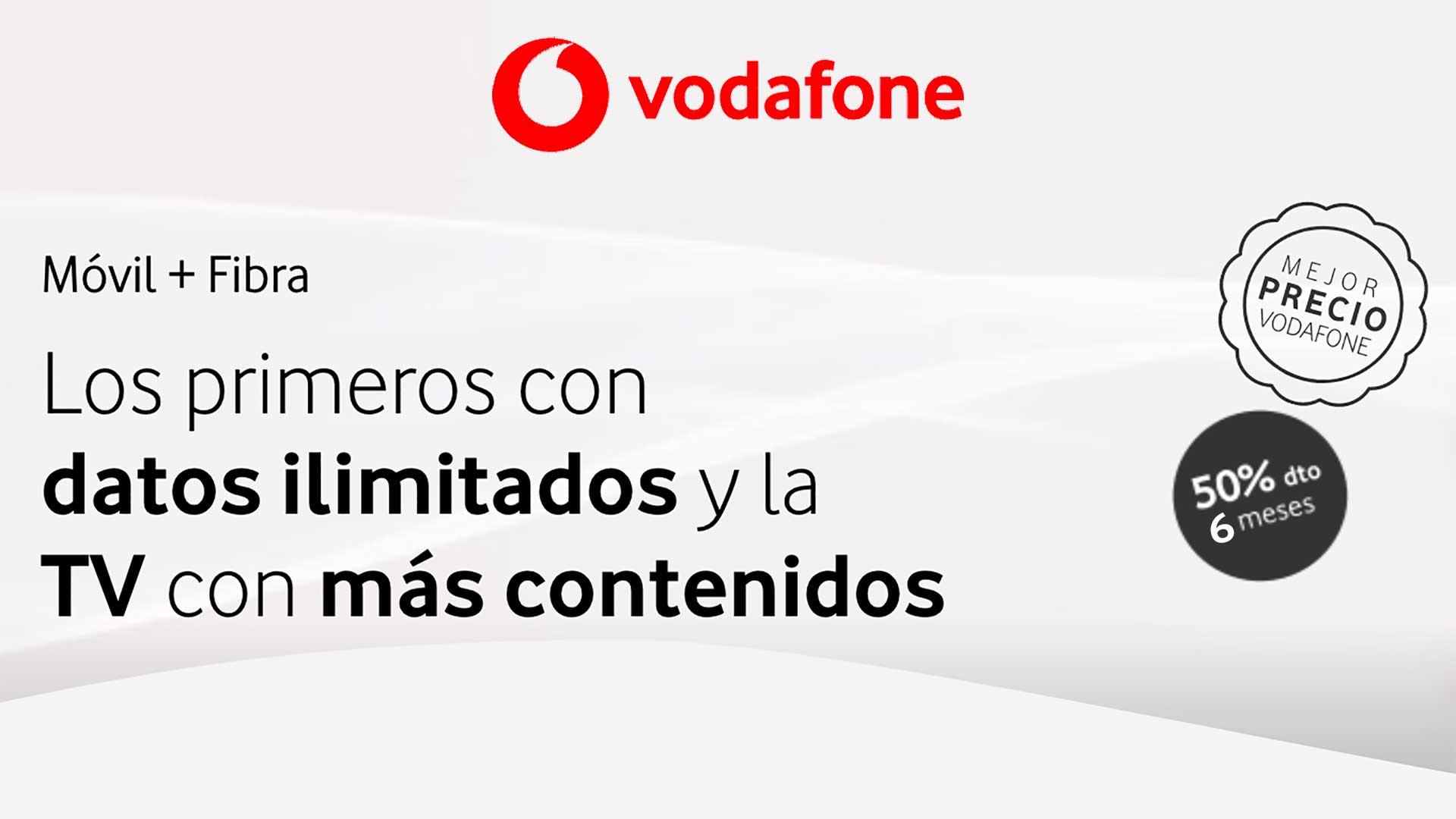 Vodafone promoción packs fibra y móvil, junio 2020