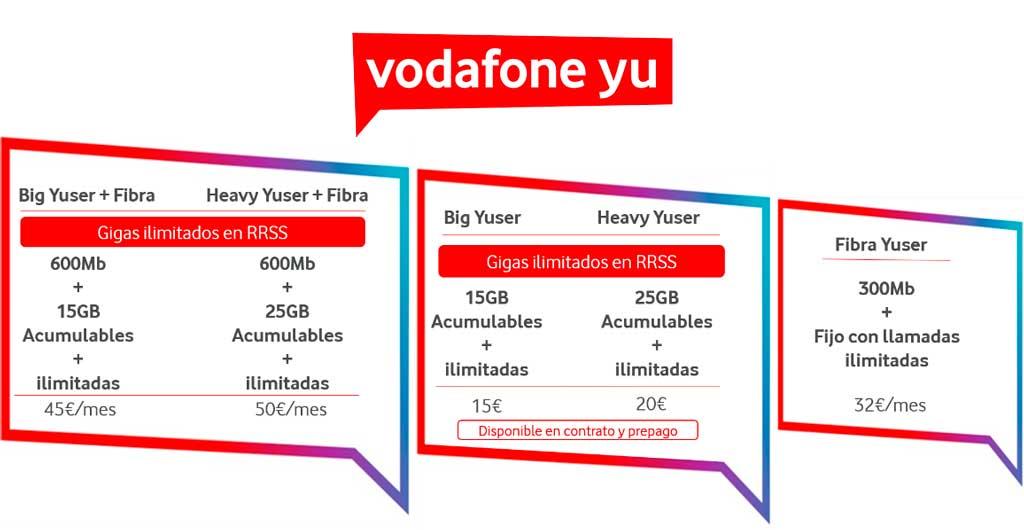 Vodafone mejora su oferta low cost propia: más gigas y fibra más rápida