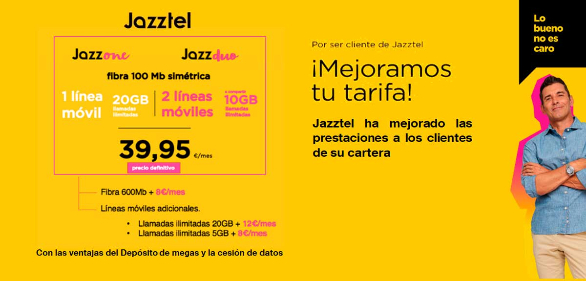 Jazz One y Jazz Duo, nuevos packs Jazztel