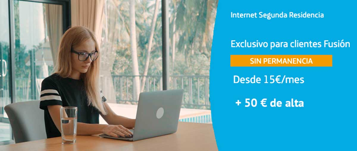 Movistar sube precio alta internet segunda residencia