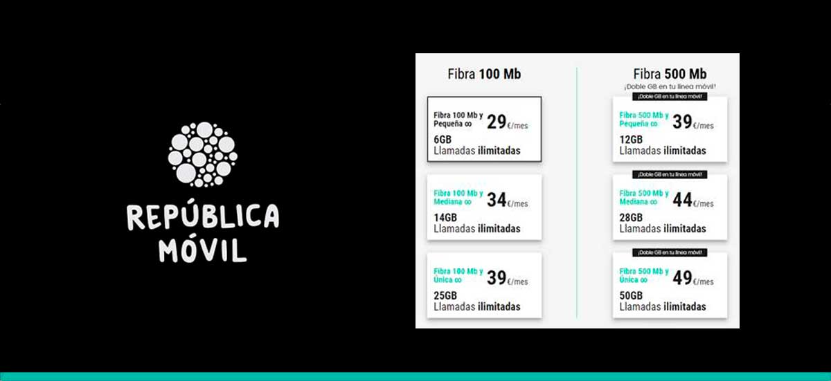 República móvil estrena tarifas fibra y móvil