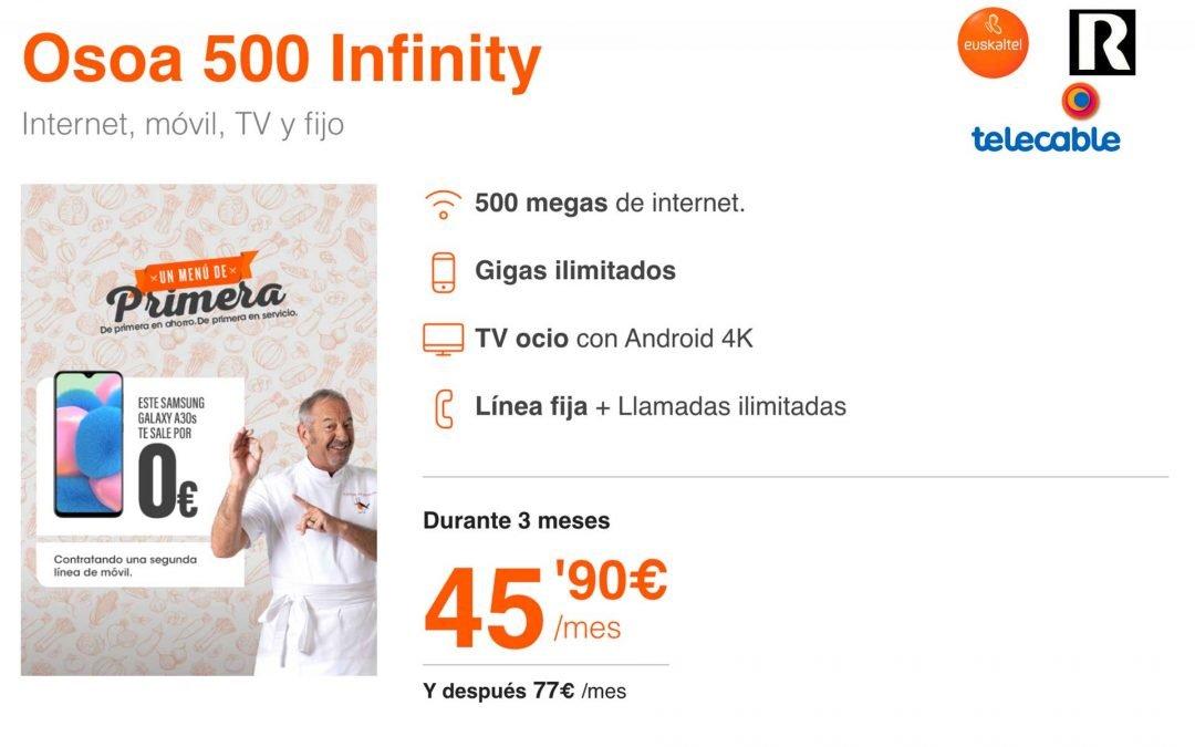 Euskaltel, R y telecable se suman a los datos ilimitados, con y sin pack de fibra