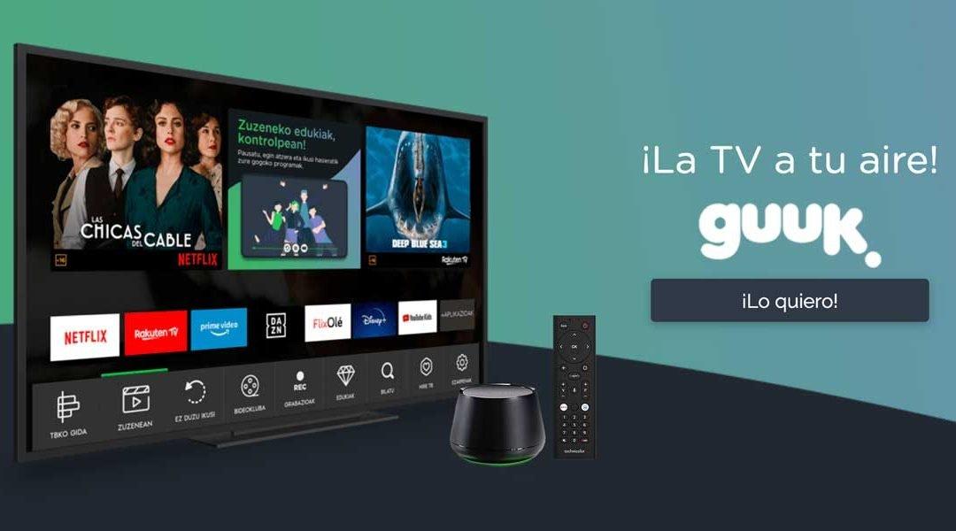 Guuk ya tiene televisión: Agile TV con Rakuten por 5 euros al mes