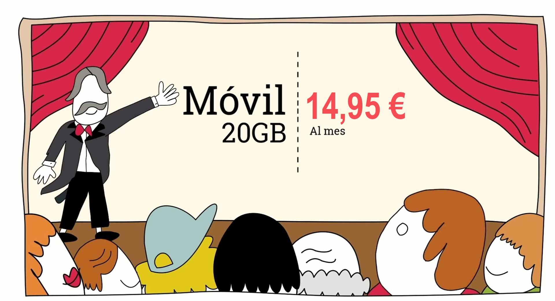 Lowi recupera tarifa 20 GB