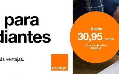 Orange ya tiene oferta de fibra para estudiantes, desde 30,95 euros al mes